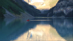 Canoes at Lake Louise, Canada Footage