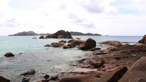 Tropical coast of St. Pierre, Seychelles Live Action