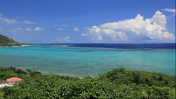 Seascape from Cape Tamatori observatory in Okinawa Prefecture, Japan Footage