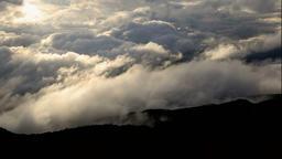 Sea of clouds in the morning at Bandai-Azuma Roadway, Fukushima Prefecture, Japa Footage