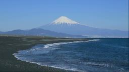 Miho no Matsubara and Mount Fuji, Shizuoka Prefecture, Japan Footage