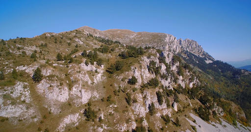 Aerial, Idyllic Mountainous Panorama, Montenegro - Graded and stabilized version Live Action