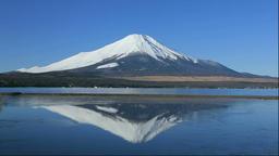 Mount Fuji and Lake Yamanaka in Yamanashi Prefecture Footage