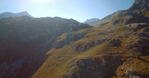 Aerial, Mountainous And Stony Landscape At Kuck Mountains, Montenegro- Graded an Live Action