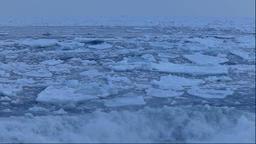 Drifting ice, Hokkaido, Japan ภาพวิดีโอ