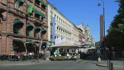 Oslo street scene in Norway Footage