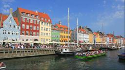 Nyhavn in Denmark Footage