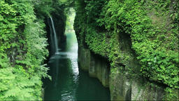 Manai Waterfall of Takachiho Gorge, Miyazaki Prefecture, Japan Footage