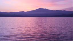 Morning view of Lake Tazawa and Mount Akita-Komagatake, Akita Prefecture, Japan Footage