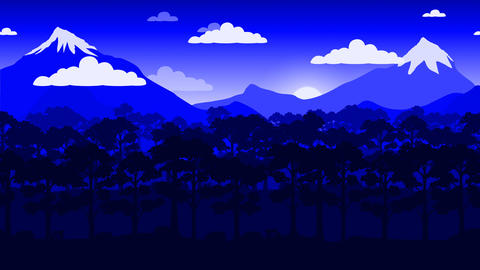 Moving by mountain landscape animation Videos animados