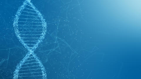 Abstract rotating DNA double helix CG動画