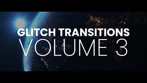 Glitch Transitions Vol3 After Effectsアニメーションプリセット