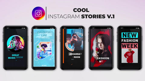 Cool Instagram Stories v 1 After Effects Template