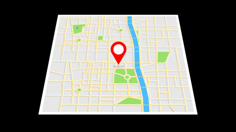 Navigation map and red checkpoint Animation