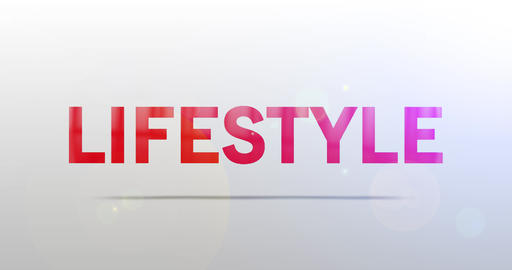 Lifestyle. Particle Logo. Text Animation Animation