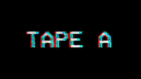 VHS Element - Tape A Animation