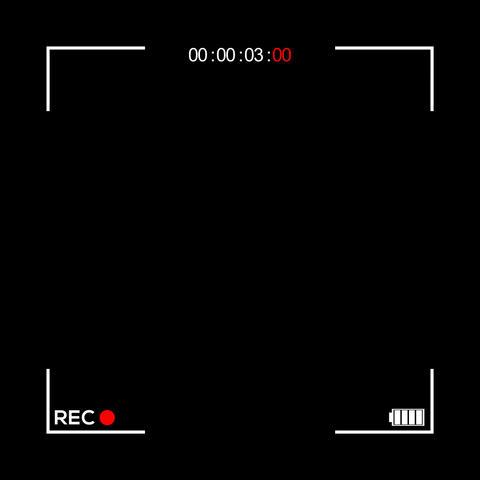 Square Camera Screen Display - Cam 1 Animation