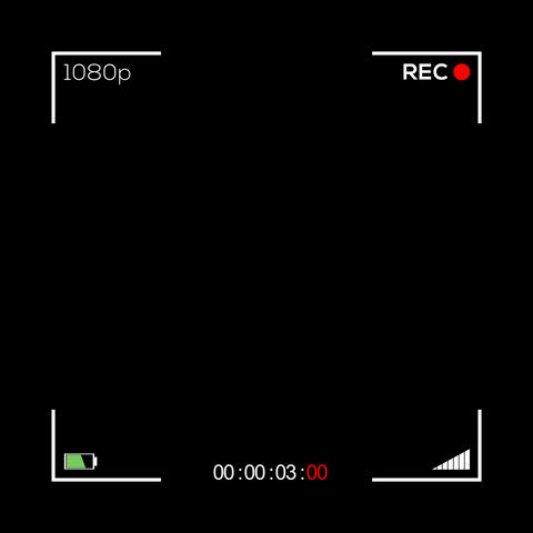 Square Camera Screen Display - Cam 2 Animation