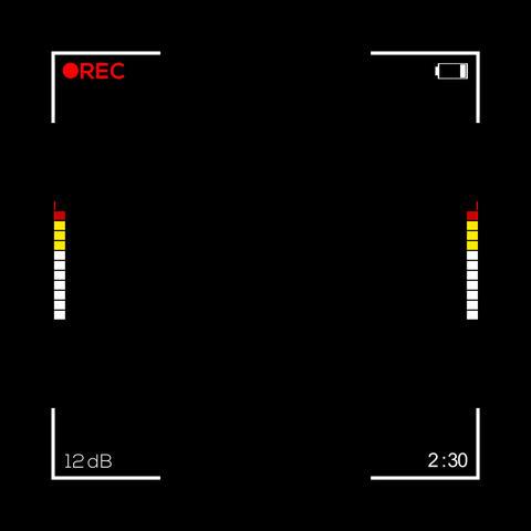 Square Camera Screen Display - Cam 3 Animation