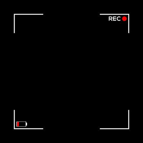 Square Camera Screen Display - Cam 4 Animation