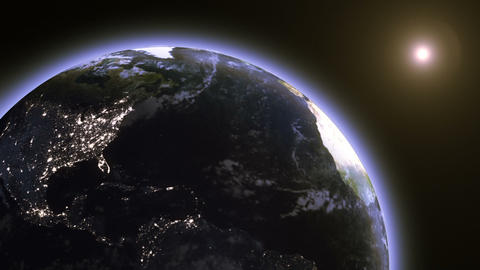 Earth from Space - Fast Rotation Animation