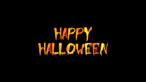 Halloween Text 01 Animation