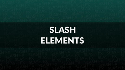 Slash Elements After Effects Template