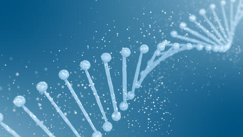 Abstract rotating DNA double helix Videos animados