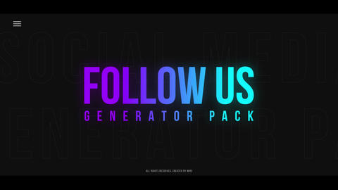 Follow Us Generator Pack After Effects Template
