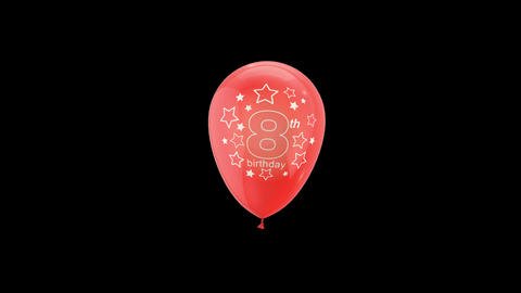 Birthday Celebrations - Balloons With Birthday Numbers 8 Live Action
