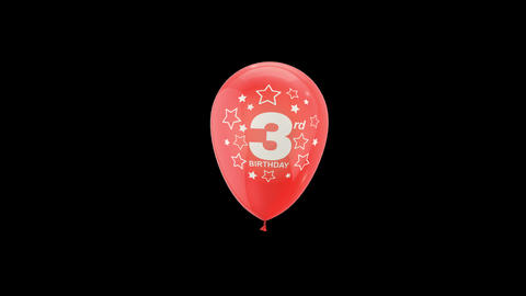 Birthday Celebrations - Balloons With Birthday Numbers 13 Live Action