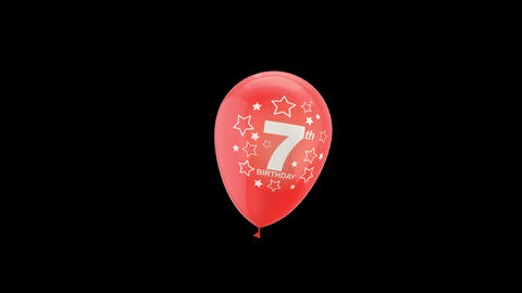 Birthday Celebrations - Balloons With Birthday Numbers 17 Live Action