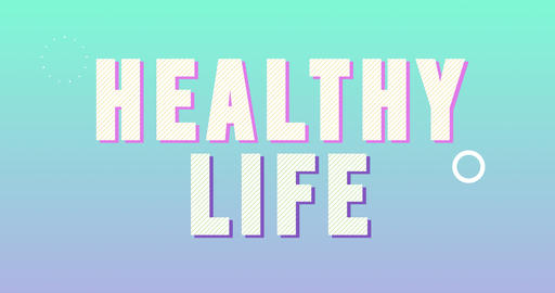 Healthy Life Logotype. Smooth Text Animation Animation