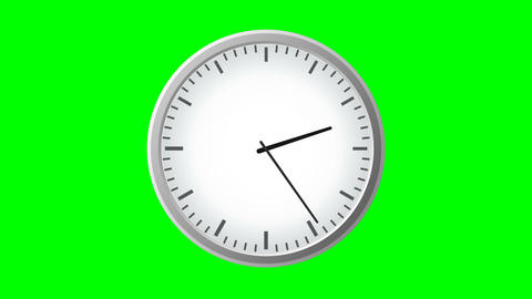 Clock Animation in 12 Hour Loop animation Animation
