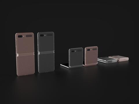 Samsung Z Flip 5G In All Official Colors 3D Model