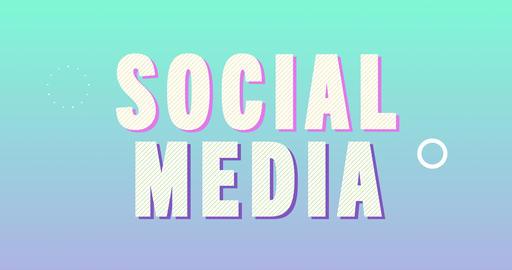Social Media Logotype. Smooth Text Animation Animation
