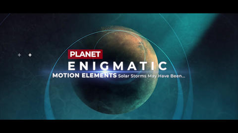 Enigmatic Planet Opener Premiere Pro Template