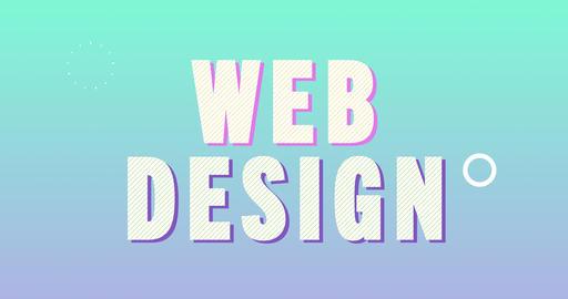 Web design Logotype. Smooth Text Animation Animation