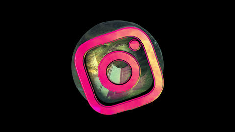 Instagram Zoom and Twist 3D animation Animation