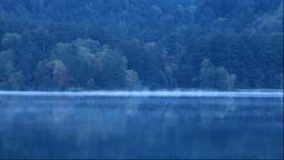 Morning mist at Lake Onneto in Hokkaido Footage