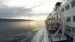 Time-lapse footage of a ferry cruising between Croatian islands Footage