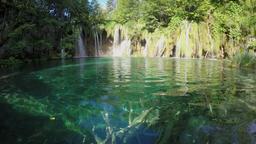 Waterfall in Plitvice Lakes National Park, Croatia Footage