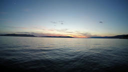 Time-lapse footage of the sunset sky over the Croatian sea Footage