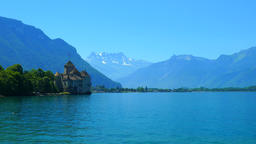 Chillon Castle and Lac Leman Footage