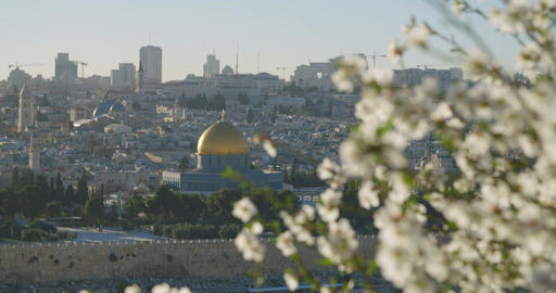 A view of the temple mount in old city Jerusalem Footage