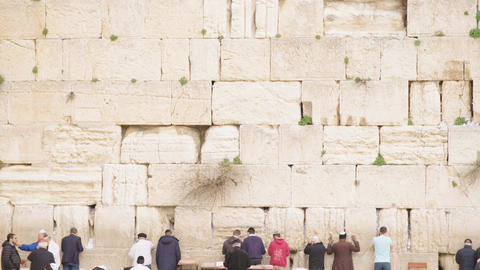 The Western Wall in old city of Jerusalem Footage