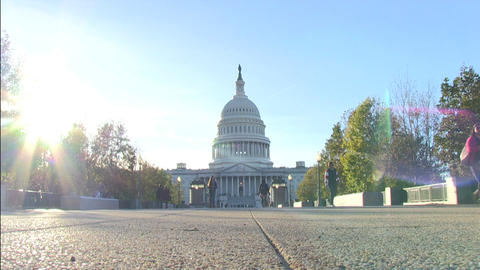 The US Capitol in Washington, DC Live Action