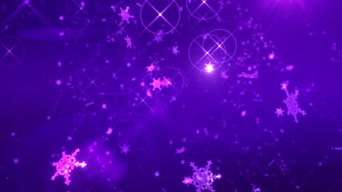SHA Snow Fall BG Image Violet Animation