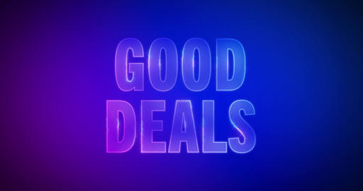 Good deals. Electric lightning words. Logotype Animation