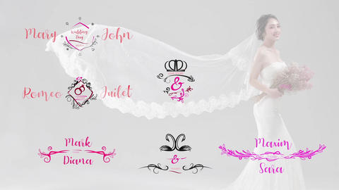 Wedding Titles Pack Apple Motion Template